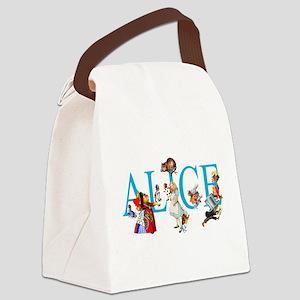 ALICE & FRIENDS IN WONDERLAND Canvas Lunch Bag