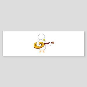 Lute Player Bumper Sticker