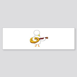 Lute Player Bumper Sticker