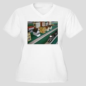 Train Speeding Through Town Plus Size T-Shirt