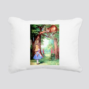 Alice and the Cheshire Cat Rectangular Canvas Pill