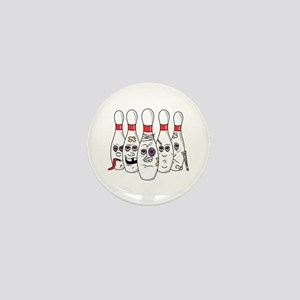Beat Up Bowling Pins Mini Button