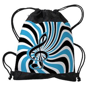 e595300fdf9b Musical Drawstring Bags - CafePress