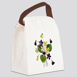 violets_Embroidery036 copy Canvas Lunch Bag