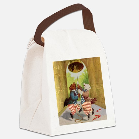 amar_liberty_bell_bears_SQ.png Canvas Lunch Bag