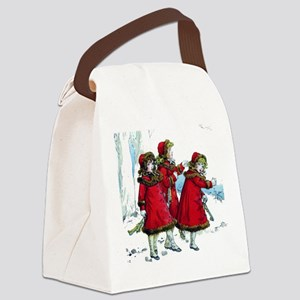 3 Sisters Skating Canvas Lunch Bag