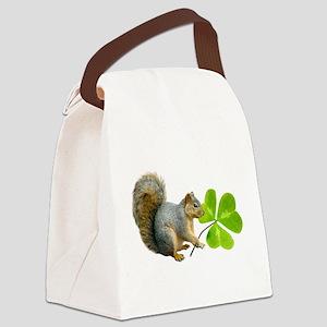 Shamrock Squirrel Canvas Lunch Bag