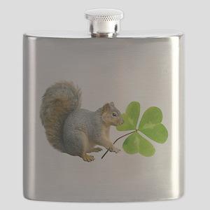 Shamrock Squirrel Flask