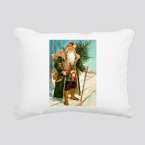 ! Santa 2 Rectangular Canvas Pillow