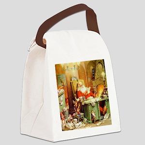 ! Santa Claus 50_SQ Canvas Lunch Bag