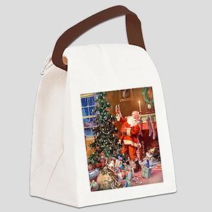 Santa Claus 1_SQ_ADJ Canvas Lunch Bag