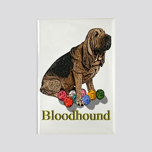 Bloodhound Christmas Rectangle Magnet