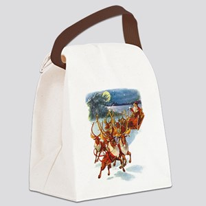 SANTA REINDEER copy Canvas Lunch Bag