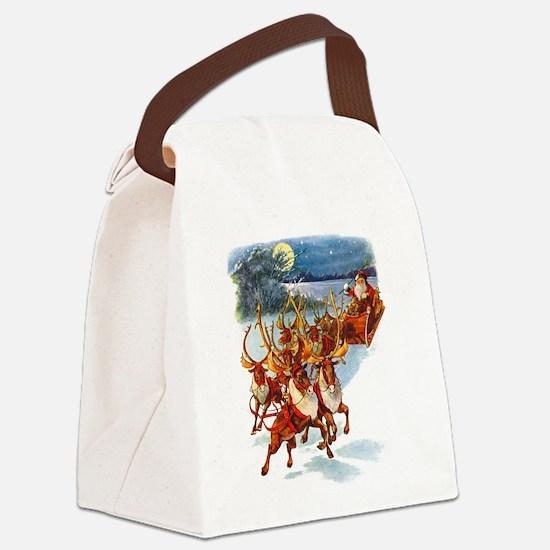 SANTA REINDEER copy.png Canvas Lunch Bag