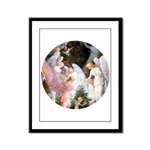 angels_pink_10x14_bright Framed Panel Print