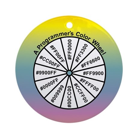 Programmer's Color Wheel Ornament (Round)