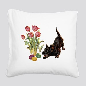 EASTER_SCOTTYx copy Square Canvas Pillow