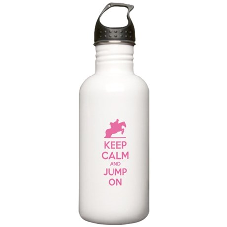 Keep calm and jump on Stainless Water Bottle 1.0L