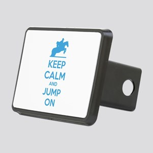 Keep calm and jump on Rectangular Hitch Cover