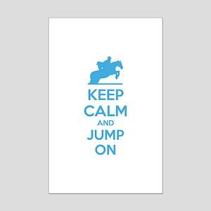 Keep calm and jump on Mini Poster Print