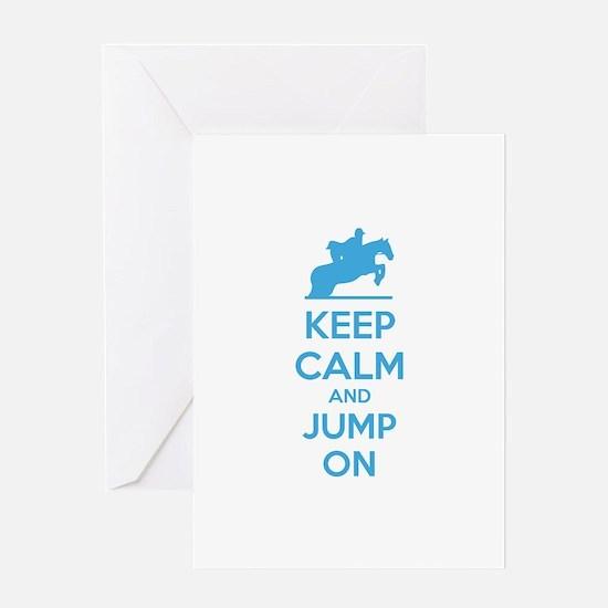 Keep calm and jump on Greeting Card