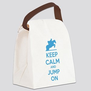 Keep calm and jump on Canvas Lunch Bag