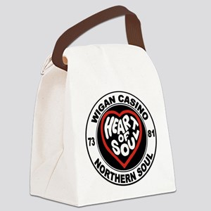Retro wigan Casino mod northern s Canvas Lunch Bag