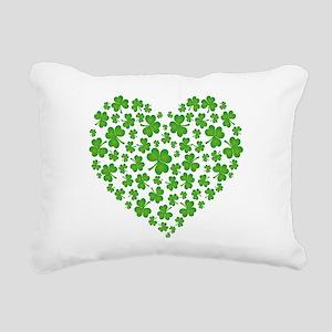 MY IRISH SHAMROCK HEART Rectangular Canvas Pillow