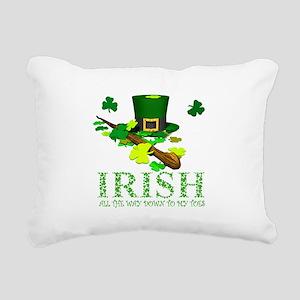 IRISH DOWN TO MY TOES Rectangular Canvas Pillow