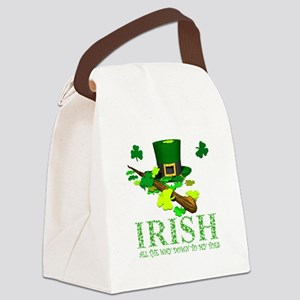 IRISH DOWN TO MY TOES Canvas Lunch Bag