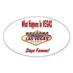 Stays Forever! Oval Decal