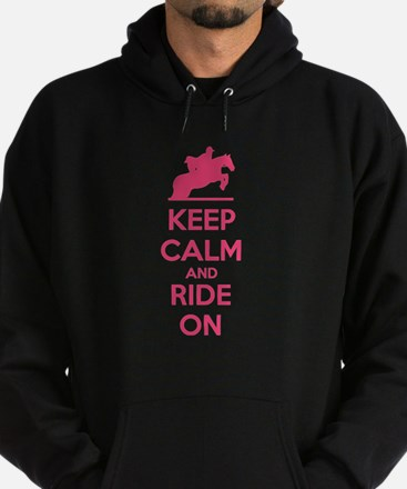 Keep calm and ride on Hoodie (dark)
