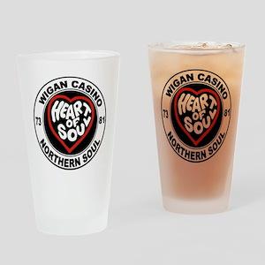 Retro wigan Casino mod northern sou Drinking Glass