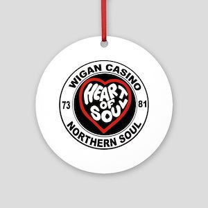 Retro wigan Casino mod northern sou Round Ornament