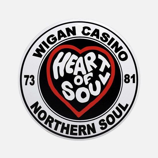 Retro wigan Casino mod northern sou Round Ornament