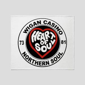 Retro wigan Casino mod northern soul Throw Blanket