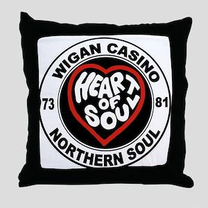Retro wigan Casino mod northern soul Throw Pillow
