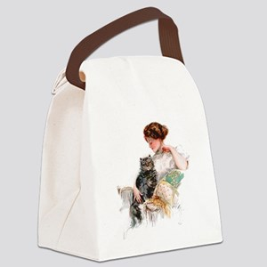 FISHER_ON THE PORCH Canvas Lunch Bag