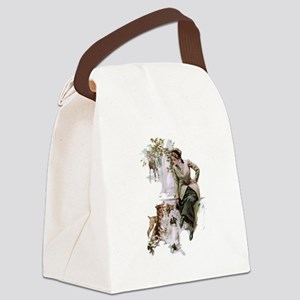 fair_americans_dogs Canvas Lunch Bag