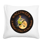 modern witch clock copy.png Square Canvas Pillow
