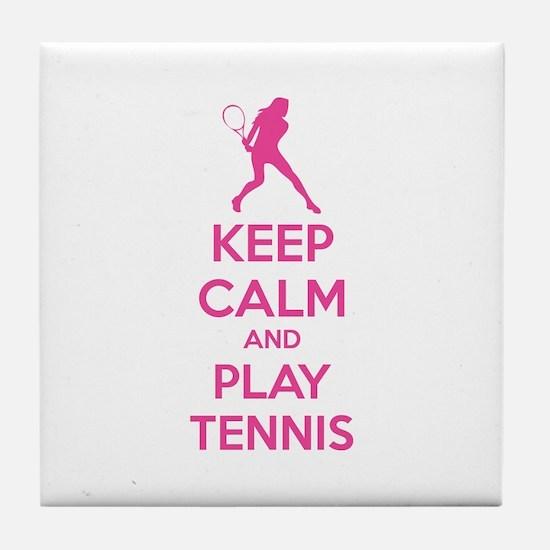 Keep calm and play tennis Tile Coaster