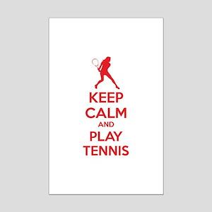 Keep calm and play tennis Mini Poster Print