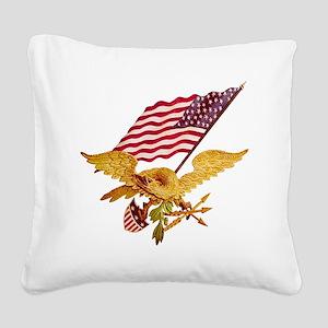 AMERICAN EAGLE Square Canvas Pillow