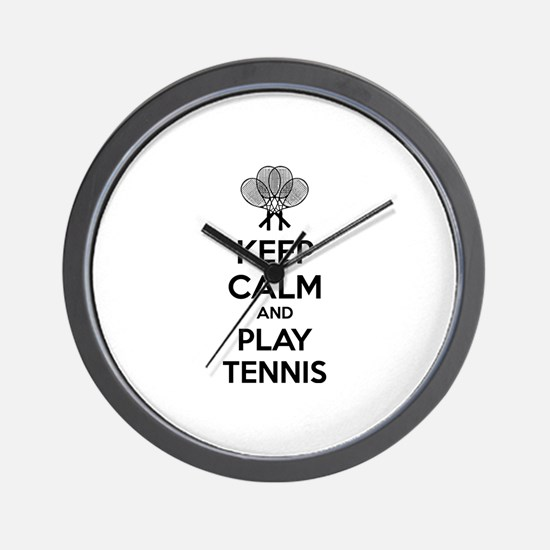 Keep calm and play tennis Wall Clock