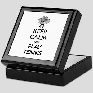 Keep calm and play tennis Keepsake Box