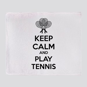 Keep calm and play tennis Throw Blanket