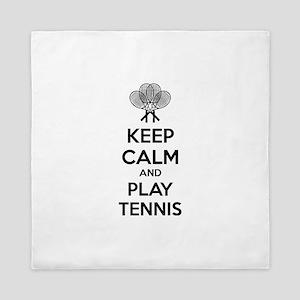Keep calm and play tennis Queen Duvet