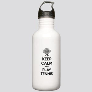Keep calm and play tennis Stainless Water Bottle 1
