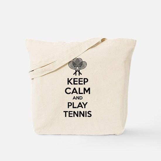 Keep calm and play tennis Tote Bag