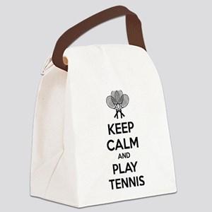 Keep calm and play tennis Canvas Lunch Bag